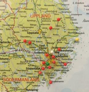 Karta Stockholmsområdet